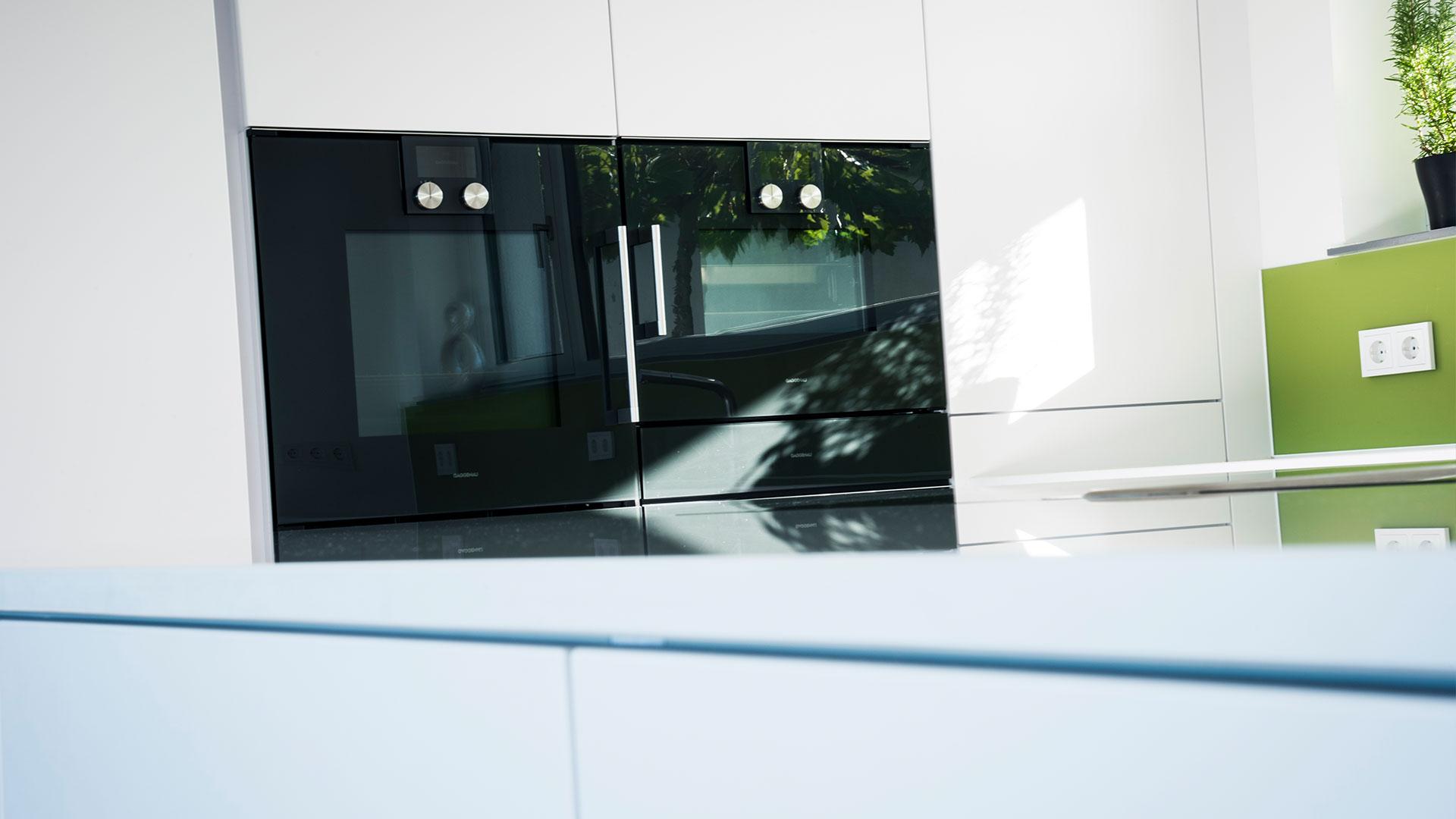 k che lack matt weiss mit arbeitsplatte in quarzstein. Black Bedroom Furniture Sets. Home Design Ideas